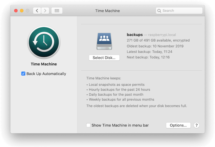Using a Raspberry Pi for Time Machine — Paul Mucur